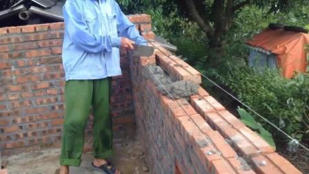 农村老师傅砌砖教程, 学会保证你不会砌歪!