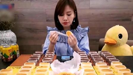 重庆姑娘吃60个半熟芝士蛋糕、蜂蜜蛋糕, 坦言吃甜食心情会变好