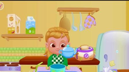 花园宝宝吃早餐, 各种事物衣服认知动漫/游戏大风车
