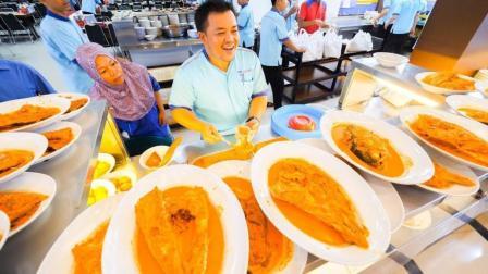 吃货老外一人吃完印度咖喱大盘鱼
