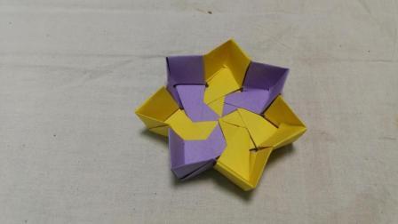 七角形纸盒折纸教程