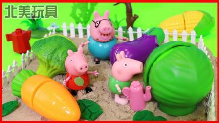 小猪佩奇一家开荒种蔬菜的儿童故事 324