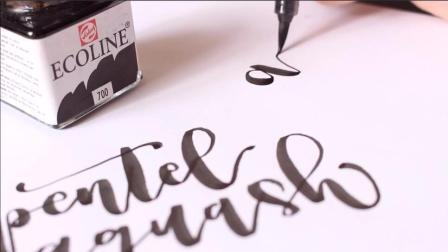手写英文花体字! 能写出这样字的人一定很漂亮