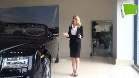 看看女销售员是如何介绍劳斯莱斯汽车的