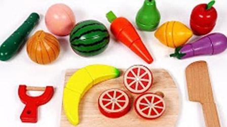 橡皮泥手工 切水果做彩虹蛋糕