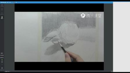 素描静物---素描玫瑰花