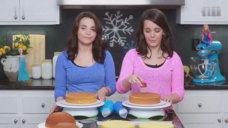 甜点控: 冰雪奇缘公主蛋糕