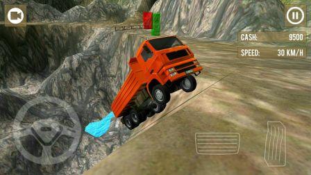 大卡车货车极限卡车司机3D版本 工程车视频第14期 卡车司机遭遇最艰险路段 阿克叔游戏视频集