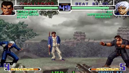 欧阳华北 拳皇2002 山崎龙二必杀就像黄飞鸿的无影腿一样