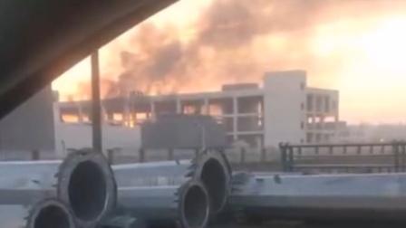 高清安徽一企业发生爆炸燃烧事故 致1死3伤