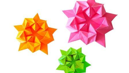 折一朵简单又漂亮的纸花! 就是这么简单! 折纸大全图解!
