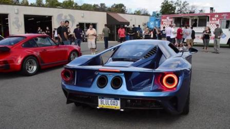 蓝色福特GT, 加速声浪街拍