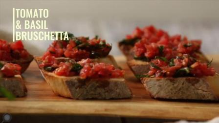 番茄罗勒普切塔, 超级简单又营养又好吃的早餐面包塔!