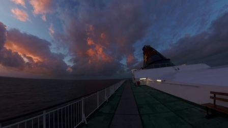 全景体验香港邮轮,360°感受海上日出美景