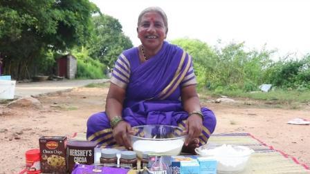 印度大妈真有本事, 不用烤箱就能作出巧克力蛋糕, 看看她怎么做