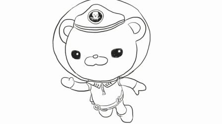 海底小纵队巴克队长幼儿亲子简笔画 宝宝轻松学画画