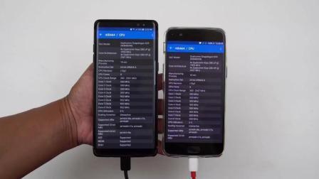 三星Note8反应速度对比一加手机5