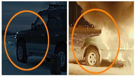 《无证之罪》穿帮镜头: 遭李丰田纵火的汽车被掉包