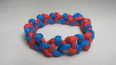 手工编绳, 3分钟学会漂亮的绳编手链, 戴出去特显眼