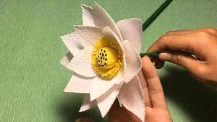 手工折纸视频教程, 简单漂亮的手工荷花, 莲花制作