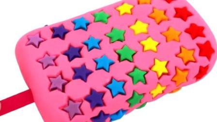 蛋糕玩具视频 彩泥 冰淇淋 制作冰淇淋的玩具模具24