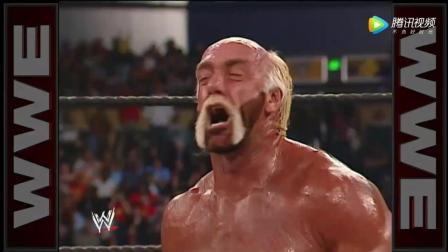 霍根 WWE美式摔跤娱乐 2002末日大赛 胡克-霍根锁喉老麦 葬爷趁机压制取胜