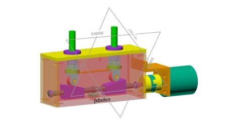 丝杠和锲形螺母直线运动非标自动化机械设计机构动画视频