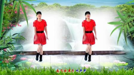 河北青青广场舞《山里红》16步, 简单好看