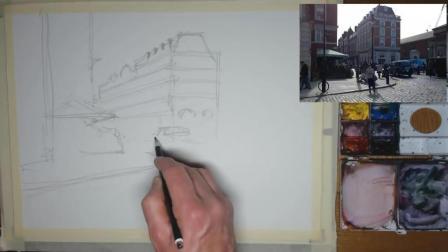 水彩画家从白纸到作品, 全程记录, 第二辑(第01集)