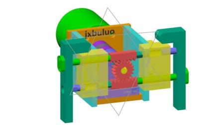 齿条、齿轮平衡式直线运动非标自动化机械设计机构动画视频