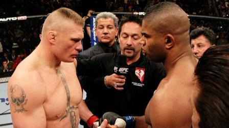 WWE巨兽布洛克莱斯纳在UFC的最后一战