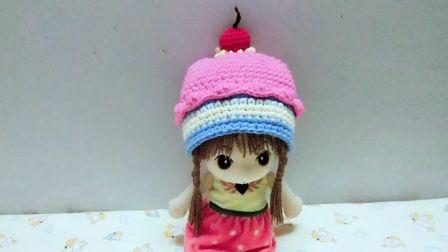 梦梦手工编织【第12期】水果冰淇淋蛋糕宝宝帽子编织①花样