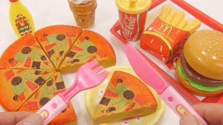 迷你披萨快餐水果玩具