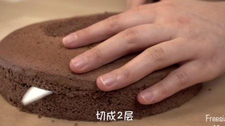 烘培的美食: 巧克力围边奶油蛋糕250