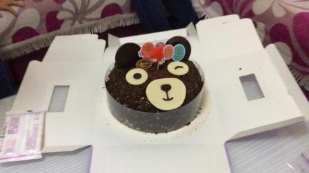 我的四岁生日 小熊蛋糕