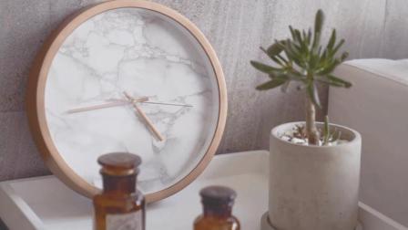 EClife意思生活 第一季 想不到一张纸让我家的旧钟表成了家居界网红大理石纹钟表