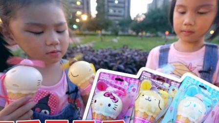 可爱电风扇 三丽鸥造型冰淇淋甜筒 布丁狗 美乐蒂 大耳狗 kitty Sunny Yummy running