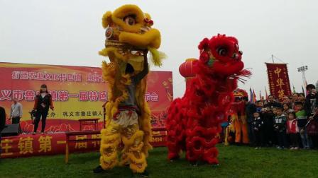 河南农村传统舞狮表演, 最后一个狮子上老杆绝了! 被誉为中华第一狮! 表演者都是初中生