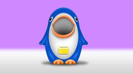 早教色彩启蒙英语: 企鹅吃金币吐出小马宝莉哈喽凯蒂小猫足球