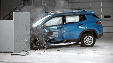 成绩优秀 全新Jeep指南者 IIHS 25%偏置碰撞测试