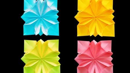 折纸花大全图解! 简单又漂亮的折纸菊花! 创意diy纸艺