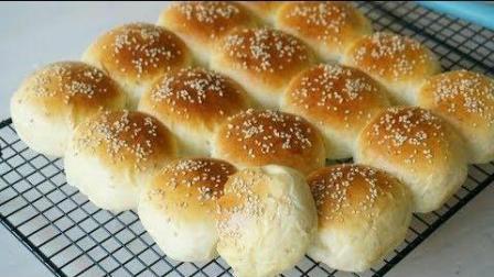【淡奶油小面包】面包口感自然是很好了, 一口气吃好几个!