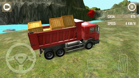工程车视频之工程卡车大货车模拟山间运输第18期 15分钟全砂石路段 阿克叔游戏