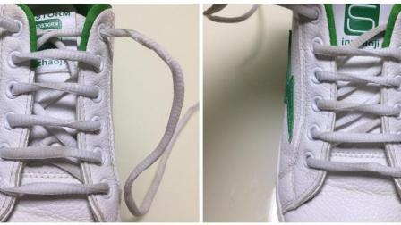 从小到大都是一种鞋带系到底, 2款一字型鞋带系法, 玩出新花样
