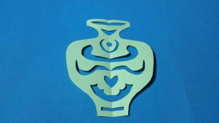 剪纸小课堂587: 剪纸花瓶 儿童剪纸教程大全 折纸王子 亲子游戏