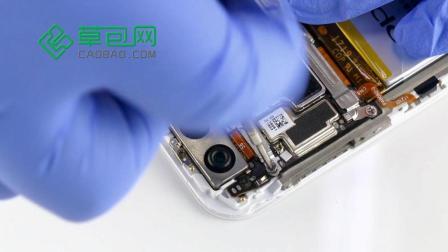 oppo R11拆机换后置摄像头教程 手机拆机维修-草包网