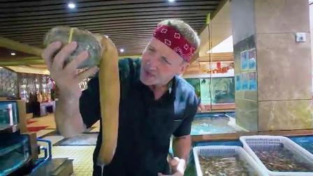 外国人第一次来广州偿尽各种海鲜美食, 看这场面, 他兴奋极了