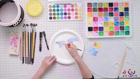雪人娃娃怎么画? 一分钟教会妈妈神技能, 创意美术儿童水粉画视频步骤