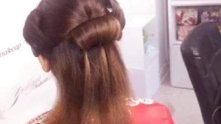 中式古装发型 少发量变多发量的技巧