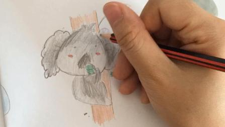 简单卡通学起来, 手把手教你画一只可爱的考拉